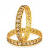 Sukkhi Modish Gold Plated American Diamond Bangle For Women