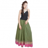 Sunshsine Rajasthan Green Long Skirt