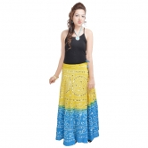 Mirror Work Bandhej Rajasthani Cotton Skirt