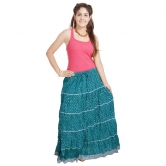 Jaipuri Ethnic Sea Green Cotton Skirt