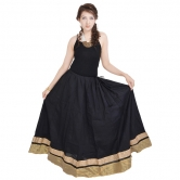 Rajasthani Ethnic Black Cotton Long Skirt