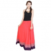 Sunshine Rajasthan Full Length Red Skirt