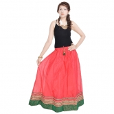 Rajasthani Ethnic Red Pure Cotton Skirt