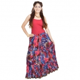 Fashionable Ethnic Cotton Full Length Skirt