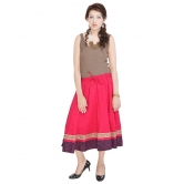 Rajasthani Pink Cotton Skirt