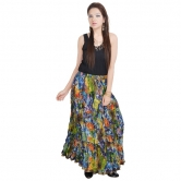 Multicolour Designer Girls Cotton Full Skirt