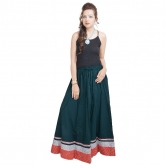 Sunshsine Rajasthan Dark Green Long Skirt
