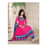 Surat Tex Pink Color Casual Wear Embroidered Georgette Semi-stitched Anarkali-c668dl1004am