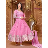 Thankar New Attractive Designer Georgette Pink Anarkali Suit