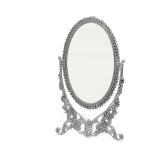 The Divine Luxury Silver Plated Oval Mirror Small