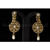 Vardhaman Goodwill Antic White Colour Gold Plated Pair Of Earring