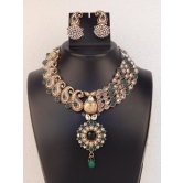Indian Vintage Bridal Crystal Womens Jewelry Necklace Set With Earring