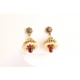 Vardhaman Goodwill Antic Multi Colour Gold Plated Pair Of Earring