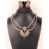Indian Bridal Necklace Set With Wedding Crystal Earring With Beautiful Stone Set