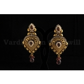 Vardhaman Goodwill Antic Pink Colour Gold Plated Pair Of Earring