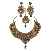 Indian Bollywood Fashion Ethnic Polki Jewelry With Stylish Maang Tikka And Earring Set