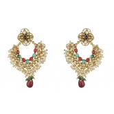 Indian Bollywood Designer Traditional Jewelry Cats Eye Stud Earrings Set