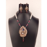 Indian Bollywood Peacock Stylish Designer Gold Plated Necklace Set With Beautiful Earrings