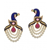 Vardhaman Goodwill Ethnic Peacock Designer Gold Plated Earrings Jewelry Set