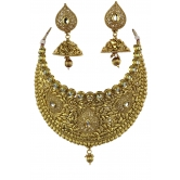 Indian Bollywood Fashion Designer Polki Necklace Jewelry With Beautiful Earrings Set