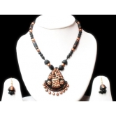 Tree Of Life-terracotta Necklace Set With Earrings