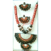 Beautiful Terracotta Necklace Set With Earrings
