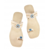 Ekolhapuri Natural Color Designers Sandal For Ladies