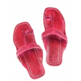 Ekolhapuri Pink Color Sandal For Women