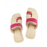 Ekolhapuri Pink  Color High Heel Leather Sandal