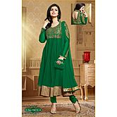 Ayesha Takia Designer  Bollywood Green Net Half Stitch Salwar Suit