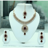 Alloy Cz Necklace Set