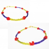 Multicolor Anklet- Pair