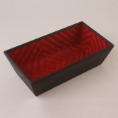 Line Red Grass And Wood Cereal Tray