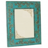 Wooden Picture Frame (blue Paisley) - Earthy Goods