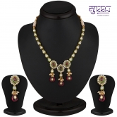 Sukkhi Stylish Gold & Gold Plated Cz Rodo Light Necklace Set - Anklets By Sukkhi Fashion