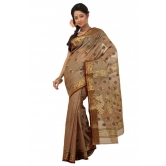 Triveni Brown Cotton Printed Without Blouse Saree Tsmrtc2091 - Cotton Sarees By Trivenisarees