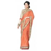 Triveni Stupendous Indian Traditional Wedding Wear Faux Georgette Ethnic Saree - Georgette Sarees By Trivenisarees
