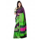 Triveni Purple Art Silk Casual Printed Saree - Silk Sarees By Trivenisarees