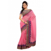 Triveni Indian Ethnic Astounding Embroidered Border Jute Silk Sari - Silk Sarees By Trivenisarees