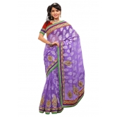 Triveni Indian Ethnic Staggering Paisely Motif Jacquard Saree - Chiffon Sarees By Trivenisarees