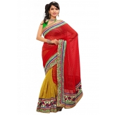 Triveni Indian Ethnic Elite Border Worked Jute Silk Chiffon Saree - Silk Sarees By Trivenisarees