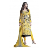 Triveni Charming Yellow Color Cotton Salwar Kameez Tsayspvsk14003b - Dress Material By Trivenisarees