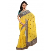 Triveni Indian Ethnic Entrancing Floral Embroidered Chiffon Saree - Chiffon Sarees By Trivenisarees