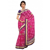 Triveni Indian Ethnic Amazing Border Worked Chiffon Jacquard Saree - Chiffon Sarees By Trivenisarees