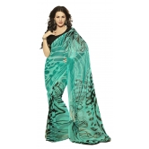 Triveni Appealing Printed Casual Wear Faux Georgette Saree - Georgette Sarees By Trivenisarees