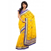 Triveni Indian Ethnic Alluring Bright Colored Border Worked Saree - Chiffon Sarees By Trivenisarees