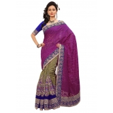 Triveni Indian Ethnic Divine Embroidered Viscose Jacquard Saree - Jacquard Sarees By Trivenisarees