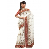 Triveni Indian Ethnic Evoking Embroidered Bhagalpuri Silk Saree - Silk Sarees By Trivenisarees