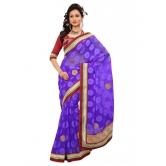 Triveni Indian Ethnic Fabulous Border Worked Chiffon Jacquard Sari - Chiffon Sarees By Trivenisarees