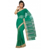 Triveni Green Cotton Printed Without Blouse Saree Tsmrtc2097 - Cotton Sarees By Trivenisarees
